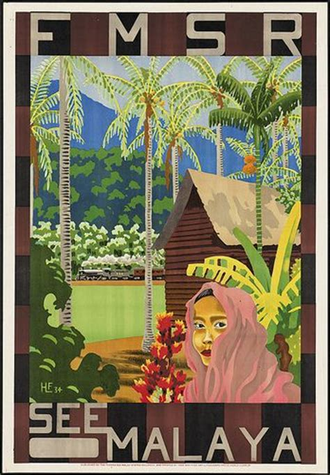 vintage malaysia tourism posters offer view  branding