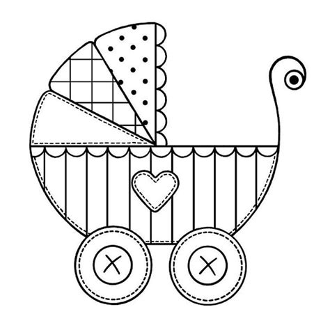 coloring pages baby carriage 42 best images to color baby things images on pinterest