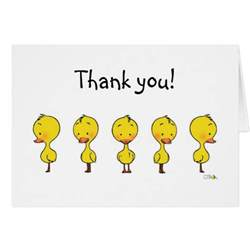 duckling thank you note card zazzle
