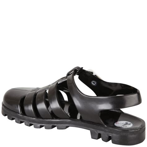 mens jelly sandals juju s maxi jelly sandals black free uk delivery