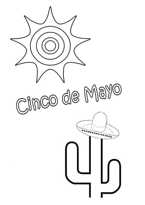 imagenes del 5 de mayo para colorear dibujo para colorear cinco de mayo img 22134