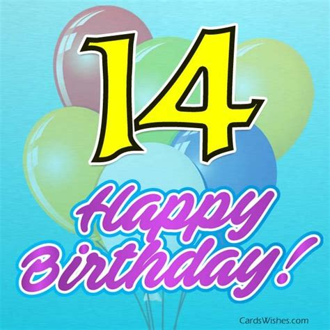 Birthday Quotes For 14 Year Happy 14th Birthday Wishes Cards Wishes
