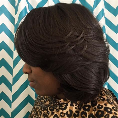bob with partial weave styles 21 feathered bob haircut ideas designs hairstyles