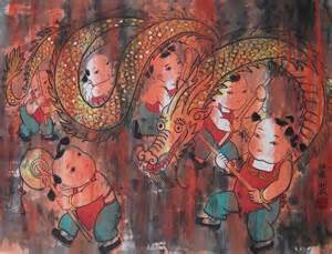 dragon dance dragon dance ailiart traditional chinese paintings art supplies ailiart