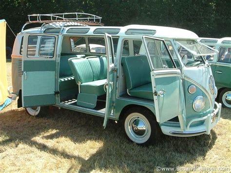 volkswagen classic van vw aqua bus with roof rack vintage travel trailers