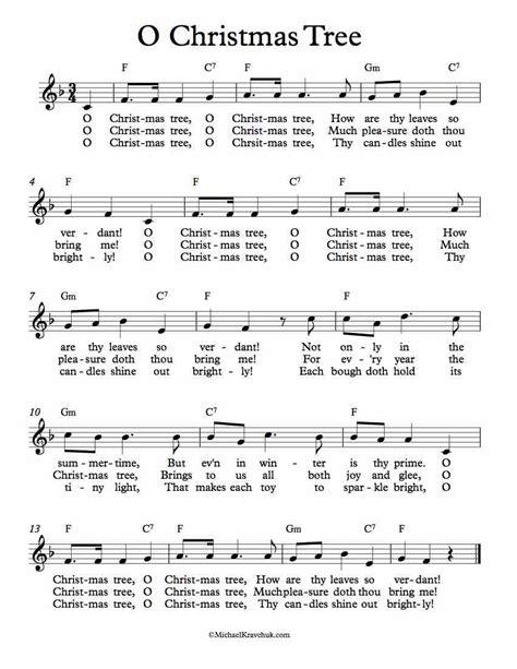 o christmas tree variation pdf sheet music free lead sheet o tree