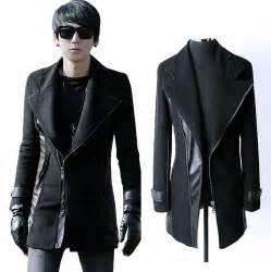black leather pea coat mens popular mens leather pea coat buy cheap mens leather pea coat lots from china mens leather pea