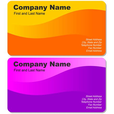 Free Visiting Card Templates For Coreldraw by Vector For Free Use Two Beautiful Business Cards