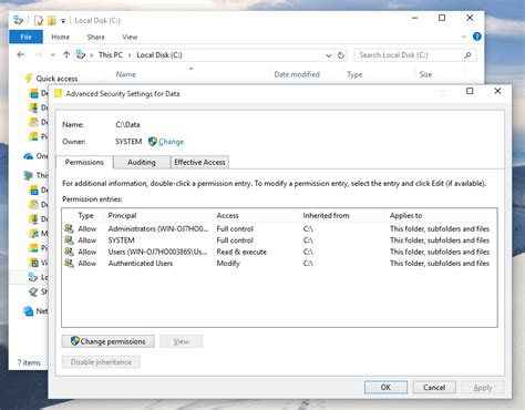 reset permissions tool take ownership of files and get full access in windows 10