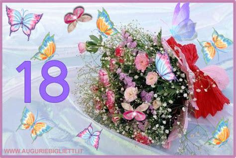 fiori per i 18 anni biglietto di auguri 18 anni con fiori e farfalle