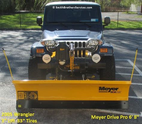 jeep wrangler snow plow ready for customer pick up meyer snow plow installs