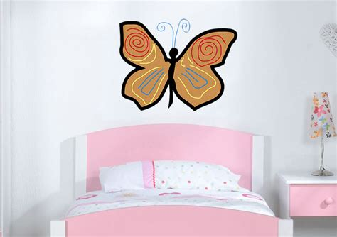 childrens wall stickers uk butterfly 16 childrens printed wall sticker