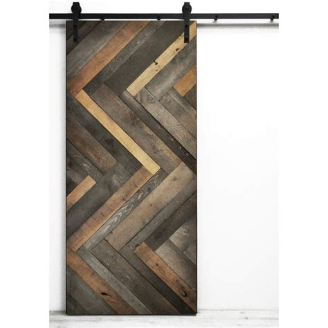 barn door interior hardware shop dogberry collections herringbone stained pine barn