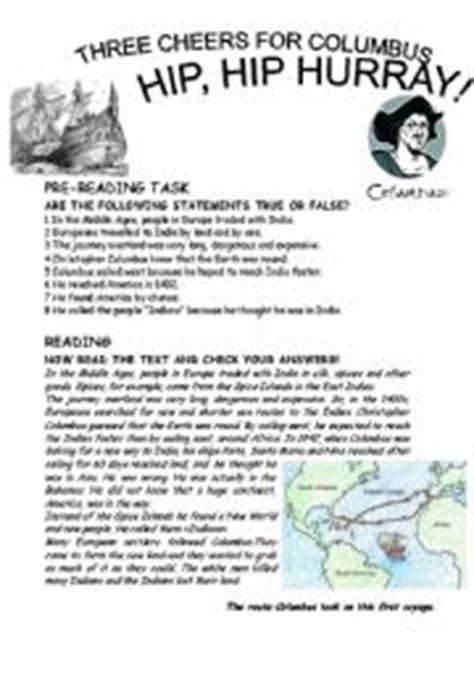 christopher columbus printable biography english teaching worksheets christopher columbus