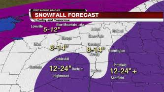 snowfall map meteorologist paul caiano snowfall total map and