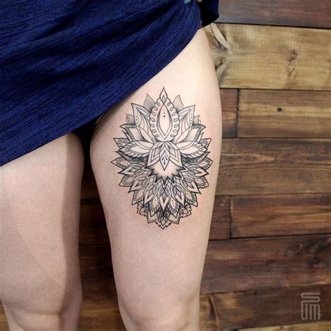 upper leg tattoo mandala 30 mandala tattoos on thigh for girls