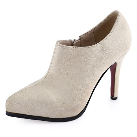 Faux Suede High Heel Ankle Boots stiletto high heel pointed toe faux suede