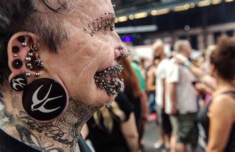 3d tattoo in dubai rolf buchholz world s most pierced man denied entry to