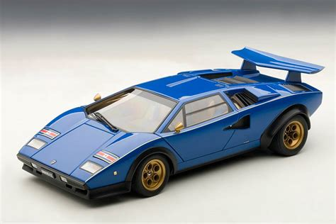 Car Part Home Decor lamborghini countach lp500s walter wolf edition blue 1 18