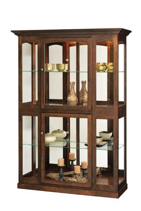 light wood curio cabinets amish side light curio cabinet lights solid wood and woods