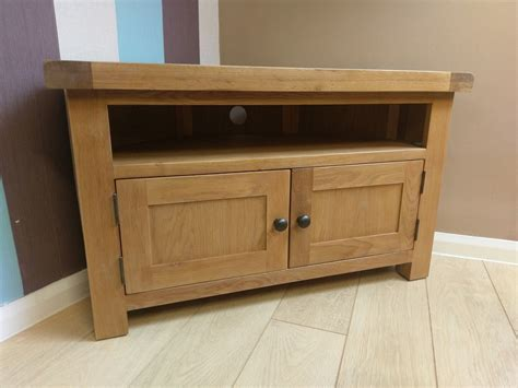 ebay tv cabinets oak kingsford solid oak corner tv unit stand cabinet