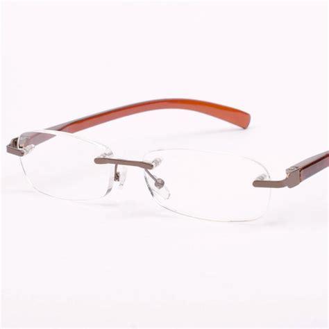new mens womens brown metal rimless reading glasses 1 5