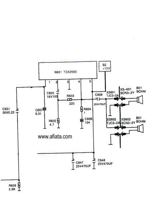 electronic circuit diagram electronic circuit diagram tv audio using tda2003
