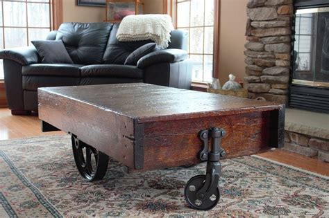 vintage wood cart coffee table cart coffee table 12 tutorials guide patterns