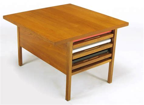Collapsible Coffee Table | john keal walnut coffee table with three folding side