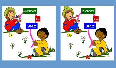 imagenes infantiles sobre la paz las diferencias ni 241 os por la paz recurso educativo