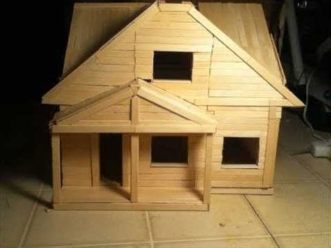 How To Make A House Out Of Construction Paper - 17 best ideas about popsicle stick houses on
