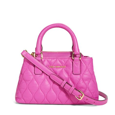 Vera Bradley Quilted Handbags by Vera Bradley Quilted Leather Mini Crossbody Bag
