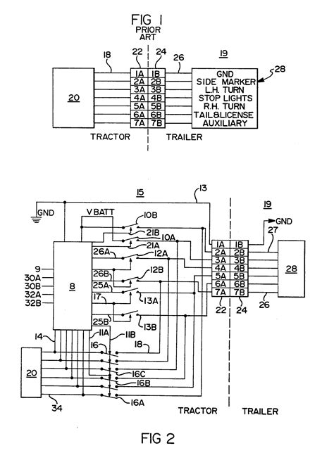 Patent EP0546370A1 - Truck tractor and trailer electrical