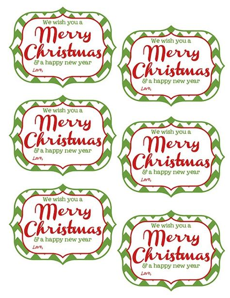 printable tags     merry christmas   happy  year christmas treats