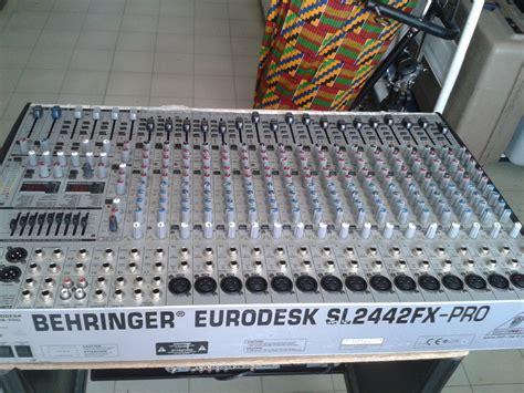 Mixer Behringer Sl2442fx behringer eurodesk sl2442fx pro image 1113335 audiofanzine