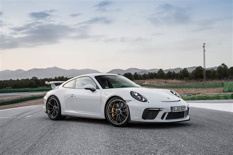 porsche white gt3 2018 porsche 911 gt3 first drive review automobile magazine