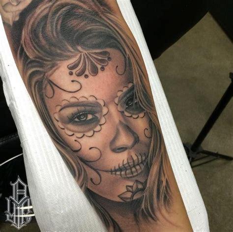 los muertos tattoo dia de los muertos by dustin yip
