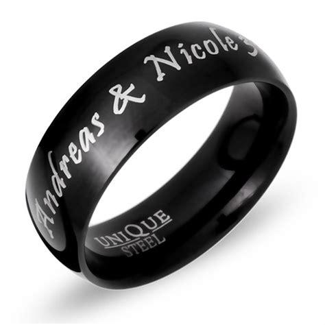 Edelstahl Ring by Ring Edelstahl Schwarz Inkl Lasergravur R9107lge