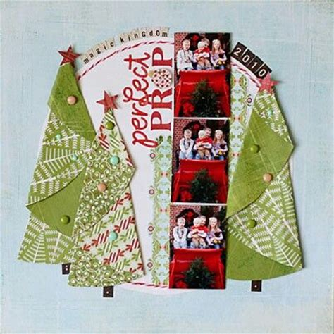 christmas layout cute trees a scrapbooking pages i