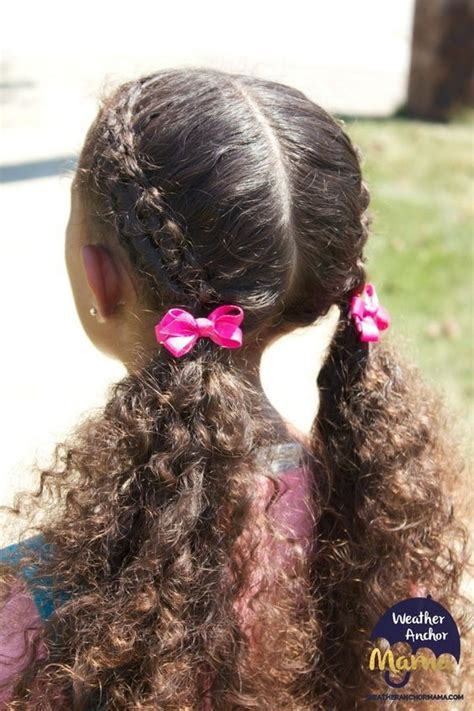 simple curly mixed race hairstyles  biracial girls