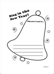 new year writing paper template ring in the new year new year resolutions winter