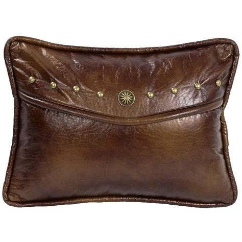 ruidoso southwestern oblong faux leather pillow