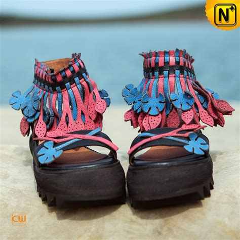Handmade Wedges - handmade fringe wedge sandals cw305225