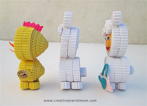 Corrugated Paper Craft - corrugated paper animal craft for creative
