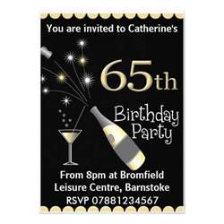 65th birthday invitation 5 quot x 7 quot invitation card zazzle