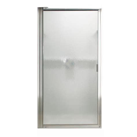 Menards Glass Shower Doors Hammered Glass Shower Door Pacer Framed Pivot Hammered Glass Shower Door At Menards 174