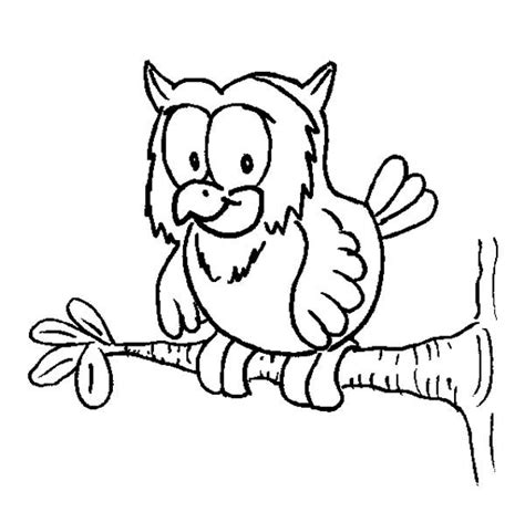 owl on a tree branch coloring page coloring page of a