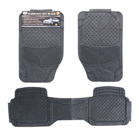 Wholesale Mats by Wholesale 3pc Floor Mats Black Glw