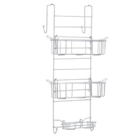 Zenna Home Over The Shower Door Caddy In Chrome E7803ss Shower Caddy The Door