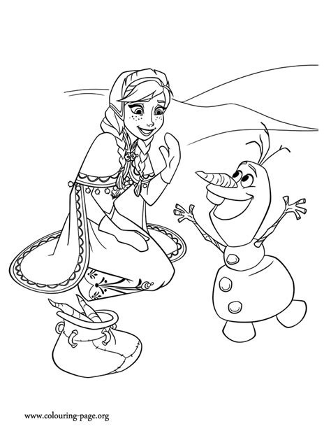 free olaf frozen coloring pages